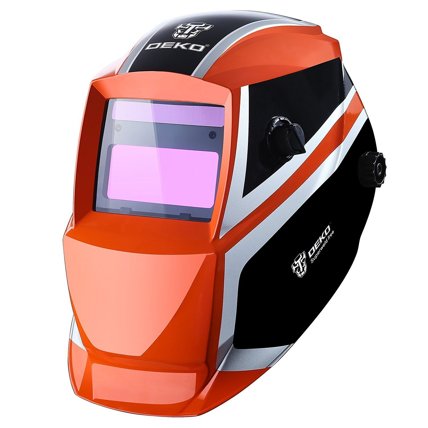 Welding Helmet Auto Darkening Solar Powered Hood with Adjustable Shade Range DIN 4/9-13 for Mig Tig Arc Welder Mask