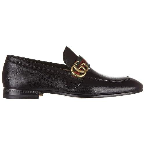 Gucci mocasines en piel hombres nuevo quentin negro EU 43 428609 D3VN0 1060: Amazon.es: Zapatos y complementos