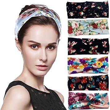 Amazon.com  Joni Fashion Boho Headbands for Women 6 Pack 6ab17abfc73