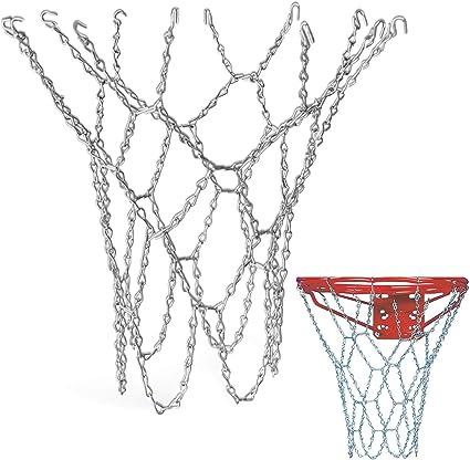 Schneespitze Basketball Filet Acier Galvanisé Filet,Filet a Chaines en Acier,Filet de Basket Ball,pour Une Utilisation Intérieure Ou Extérieure(sans