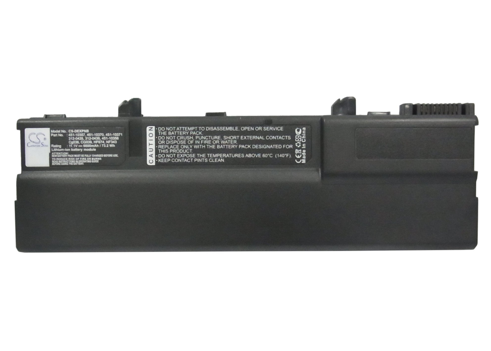 Cameron Sino 6600mAh Li-ion High-Capacity Replacement Batteries for DELL XPS M1210 , fits DELL 312-0435, 312-0436, 451-10356