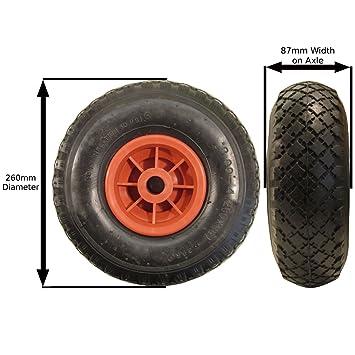 Sustitución de la rueda de maniobra neumática para remolques