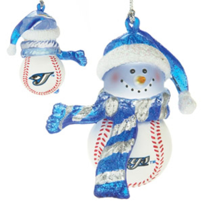 Toronto blue jays christmas ornament - Mlb Toronto Blue Jays Striped Snowman Baseball Christmas Ornament Amazon Ca Home Kitchen