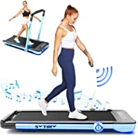 Treadmill,Under Desk Folding Treadmills for Home,2-in-1 Running, Walking&Jogging Portable Running Machine with Bluetooth…