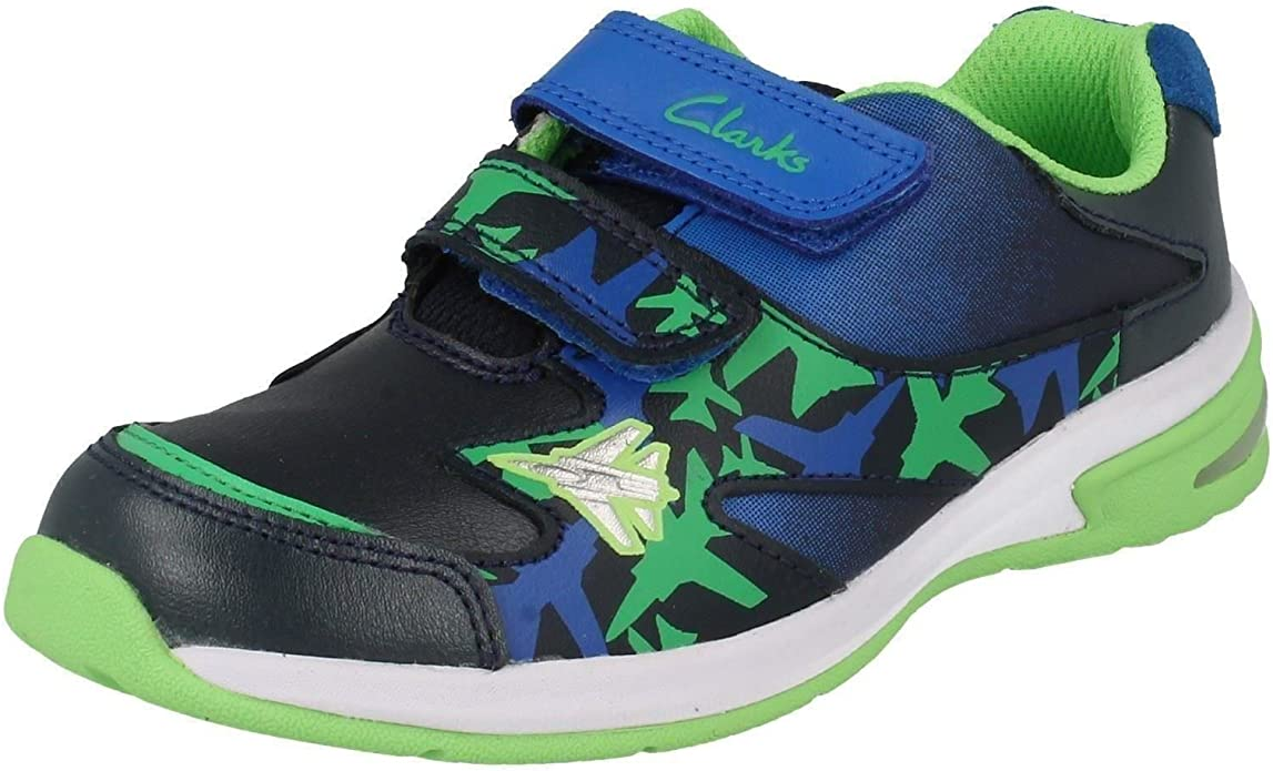 Boys Cica by Clarks Trainers /'Piper Fun/'
