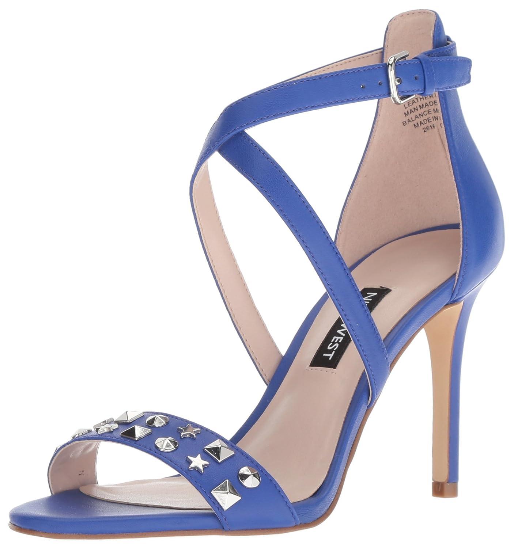 Nine West Womens Maziany Leather Heeled Sandal