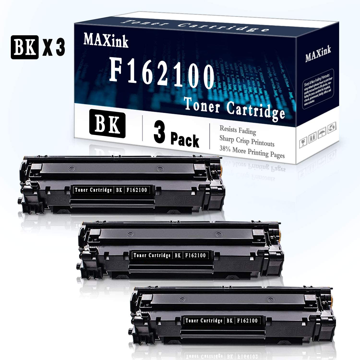 5 Pack Black Toner Cartridge Compatible for Canon F166102 Printer Toner Cartridge-Sold by MAXink