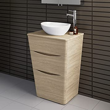 Phenomenal 600Mm Bathroom Furniture Countertop Vanity Unit Modern Basin Oak Effect Floor Standing Download Free Architecture Designs Ogrambritishbridgeorg