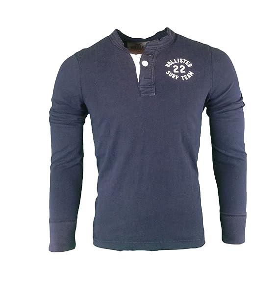 Hollister - Camiseta de Manga Larga - Camiseta - Básico - Manga Corta - para Hombre