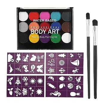 Womdee Body Art Face Paint Kit 15 Colors Washable Oil Watercolor Paint Pigment 2 Art