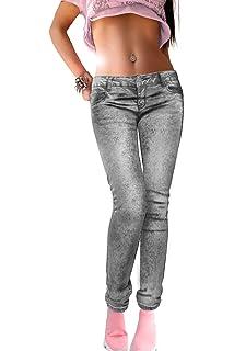 Batik Look stretch Jeans DUNKEL ROSA