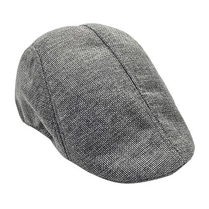 d8d24c714 Egmy👒 Clearance ❤️ Men Summer Visor Hat Sunhat Mesh Running Sport Casual  Breathable Beret Flat Cap (Grey)