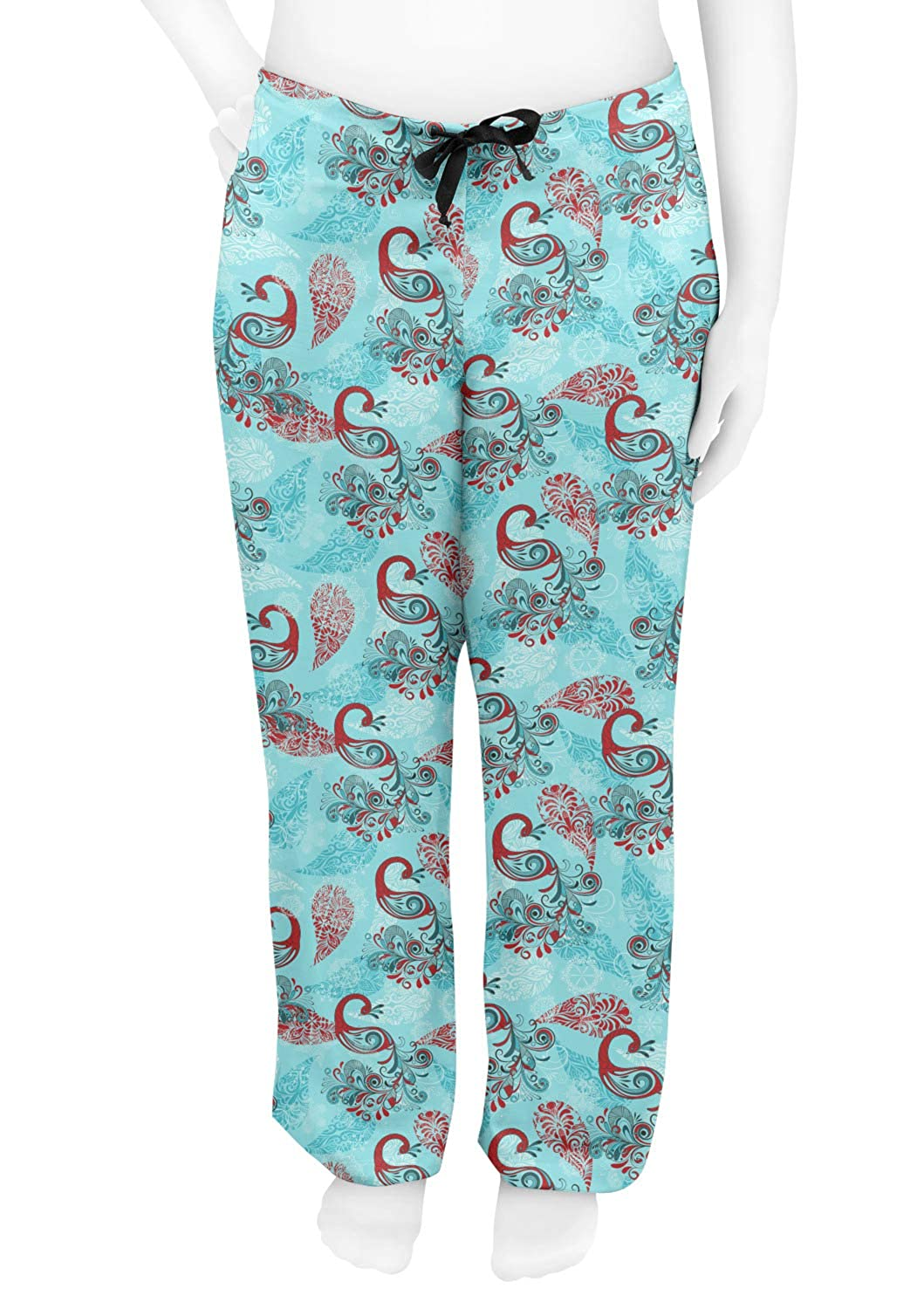 Personalized RNK Shops Peacock Womens Pajama Pants