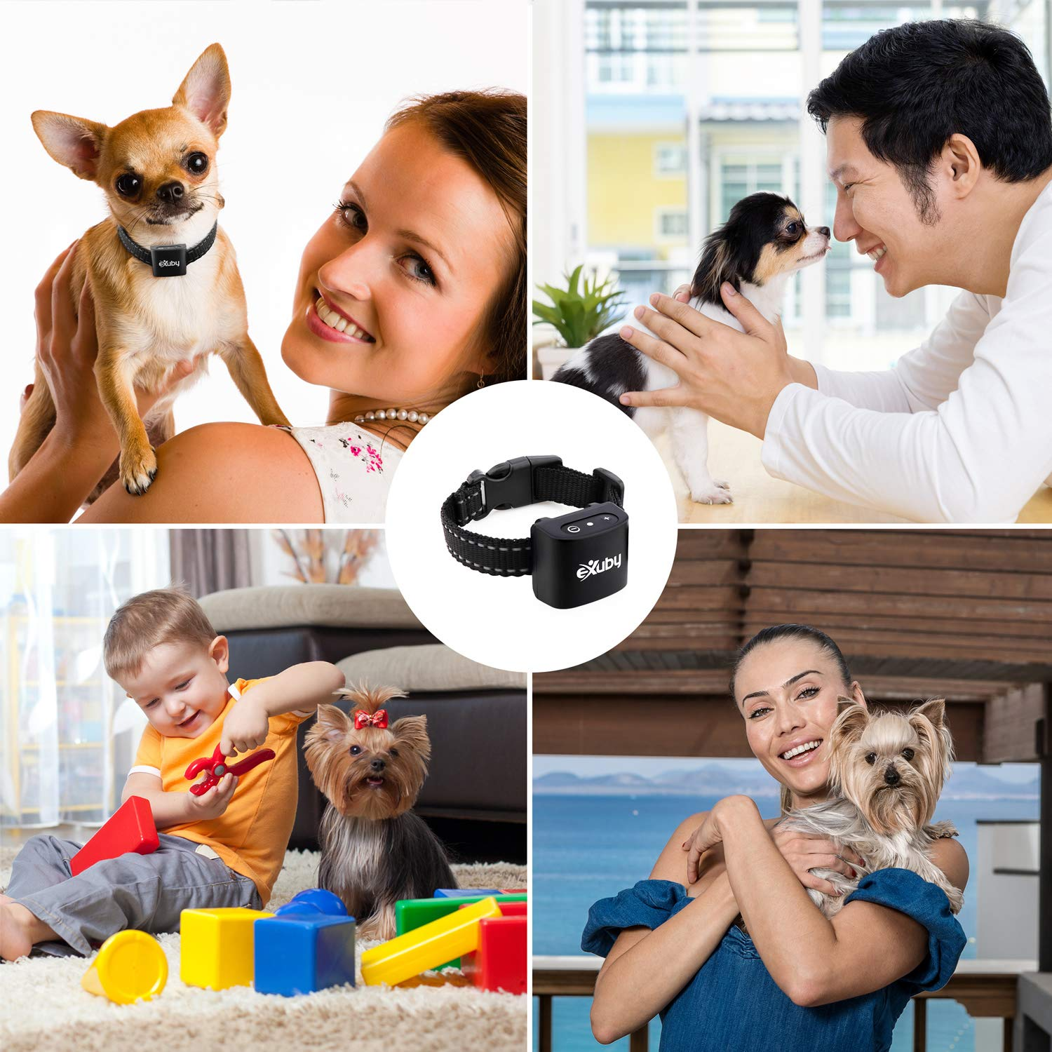 Yorkshire Only Sound /& Vibration Fits Chihuahua No Shock eXuby Pomeranian Smallest Bark Collar in The World Papillon Tiny Anti Bark Collar for Small Dogs Puppies Water Resistant