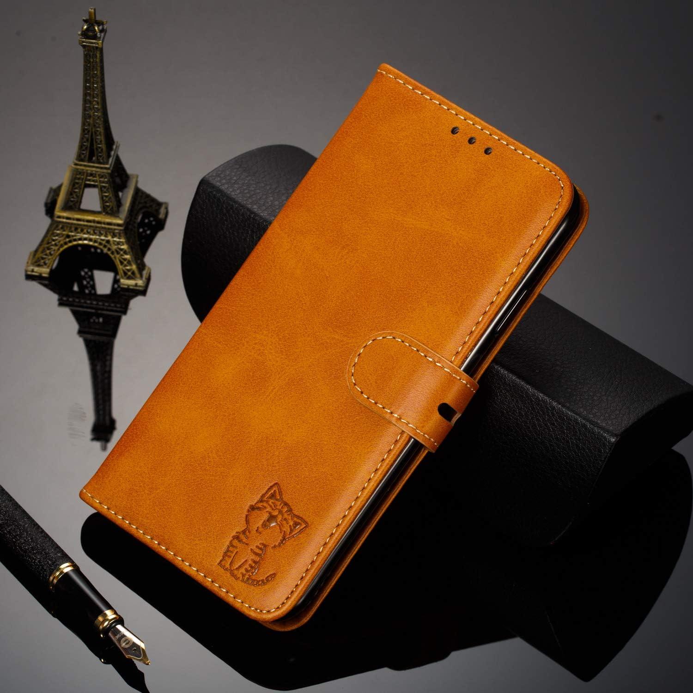 Portefeuille /Étui en Cuir Synth/étique Fonction Stand Case Housse Folio /à Rabat Compatible avec Xiaomi Redmi Note 7 TOXLI010708 Marron Tosim Coque Xiaomi Redmi Note 7//Note 7 Pro