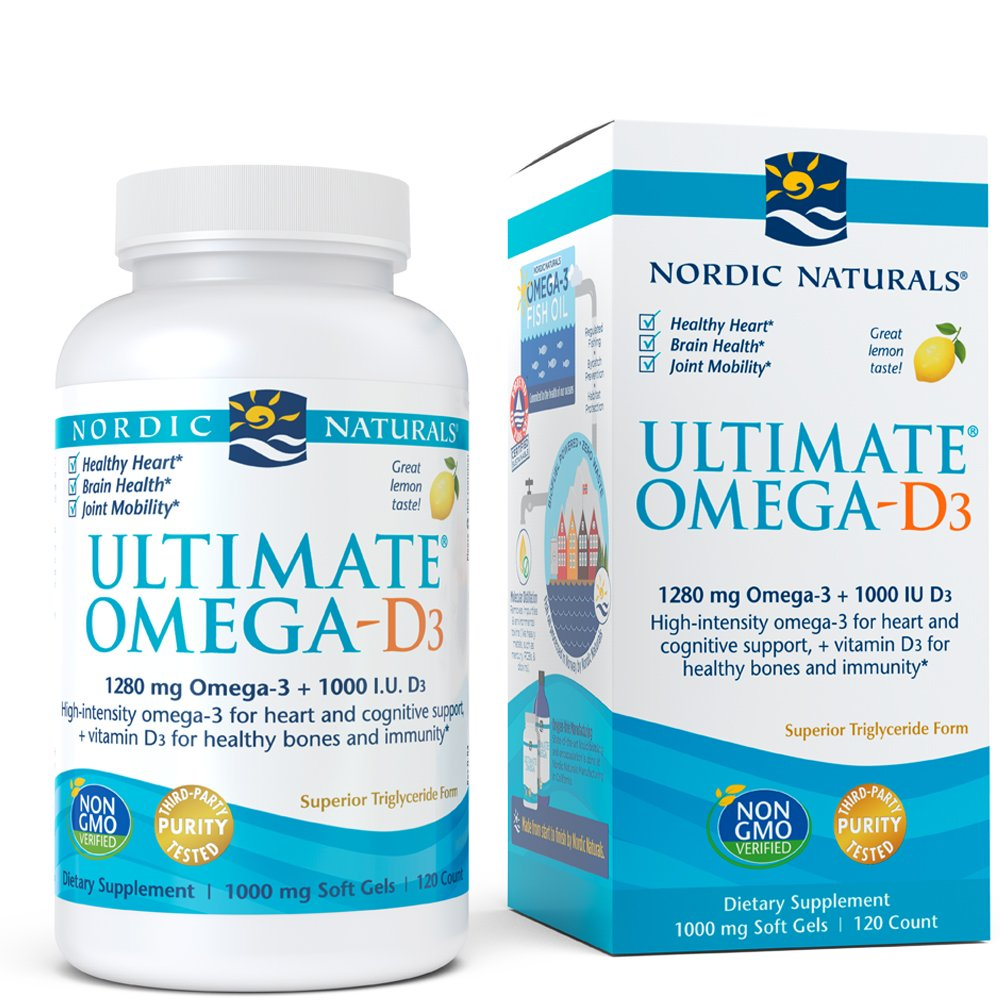 Nordic Naturals - Ultimate Omega-D3, Supports Healthy Bones and Immunity, 120 Soft Gels