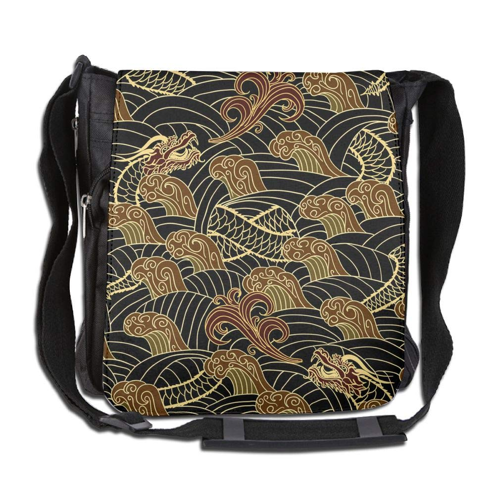 SARA NELL Messenger Bag,dragon Totem,Unisex Shoulder Backpack Cross-body Sling Bag