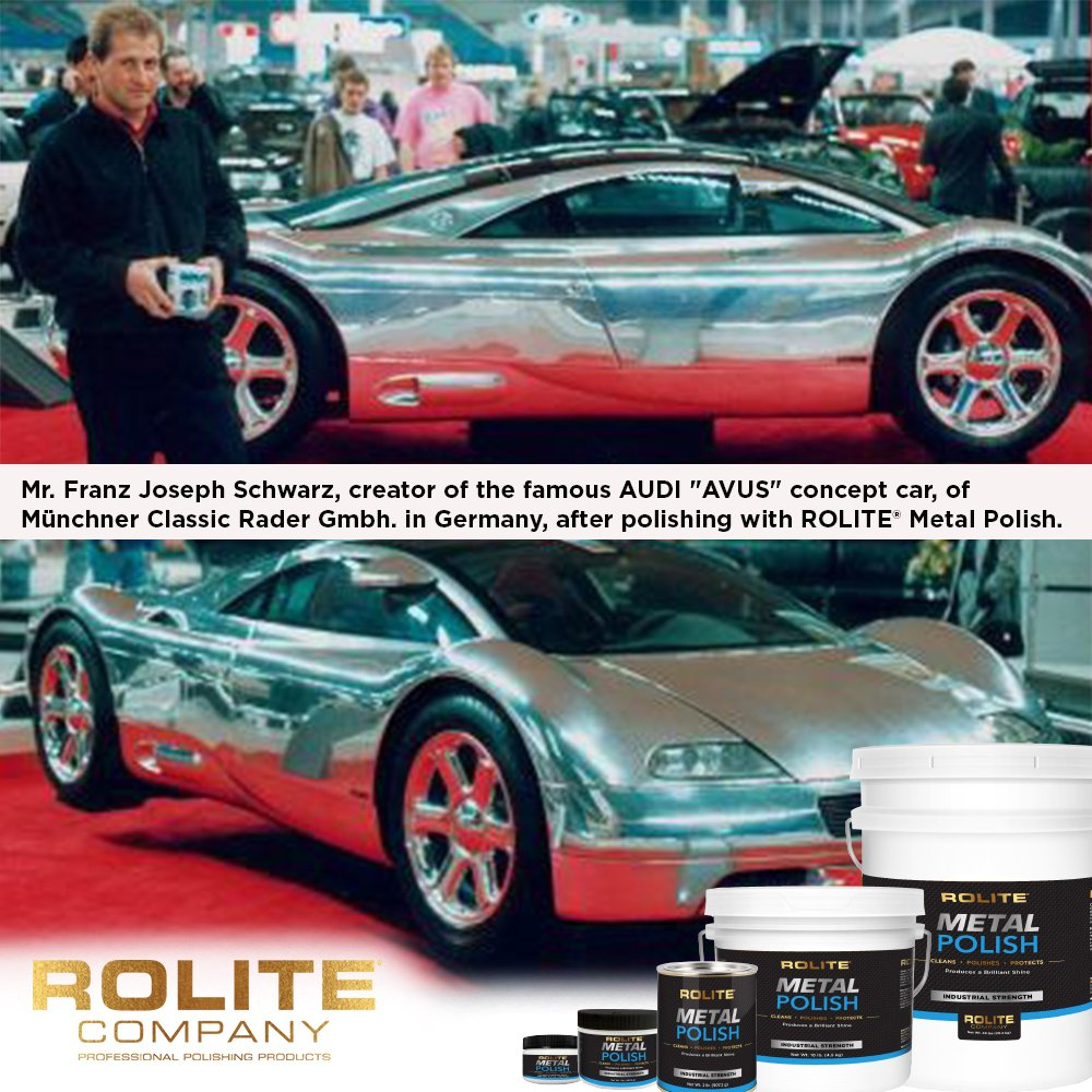 Rolite Metal Polish Paste (1lb) for Aluminum, Brass, Bronze, Chrome, Copper, Gold, Nickel and Stainless Steel by Rolite (Image #2)