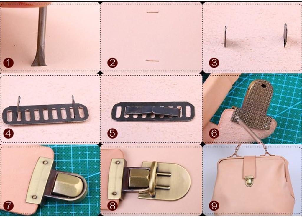 Simplelife Purse Turn Lock Twist Lock for Bags,Women Handbag Buckle Metal Snap Clasp Bag Accessories
