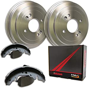Max DS926042 Rear Premium OE Replacement Drums and Shoes Combo Brake Kit
