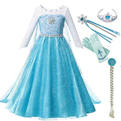 HDCRAFTER Luxury Princess Dress Costumes with Girls Birthday Party Cosplay Costume 2-10 Years: Clothing