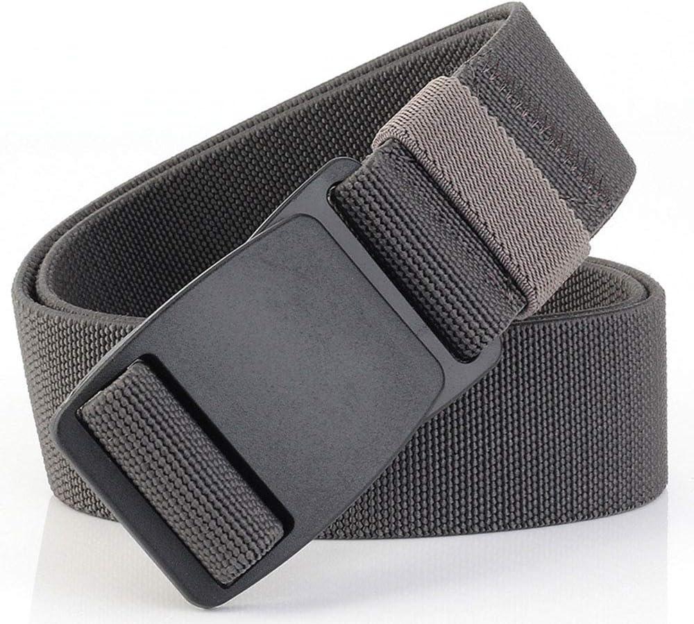 SJ-man's belt Confortable Ceinture pour Hommes en Cuir, Toile Respirante, Ceinture décontractée, Boucle en métal, Ruban, Boucle Ajustable (Color : Dark Gray) Dark Gray
