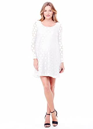 8097c2ece0a69 Ingrid & Isabel Women's Maternity Dot Lace Dress at Amazon Women's Clothing  store: