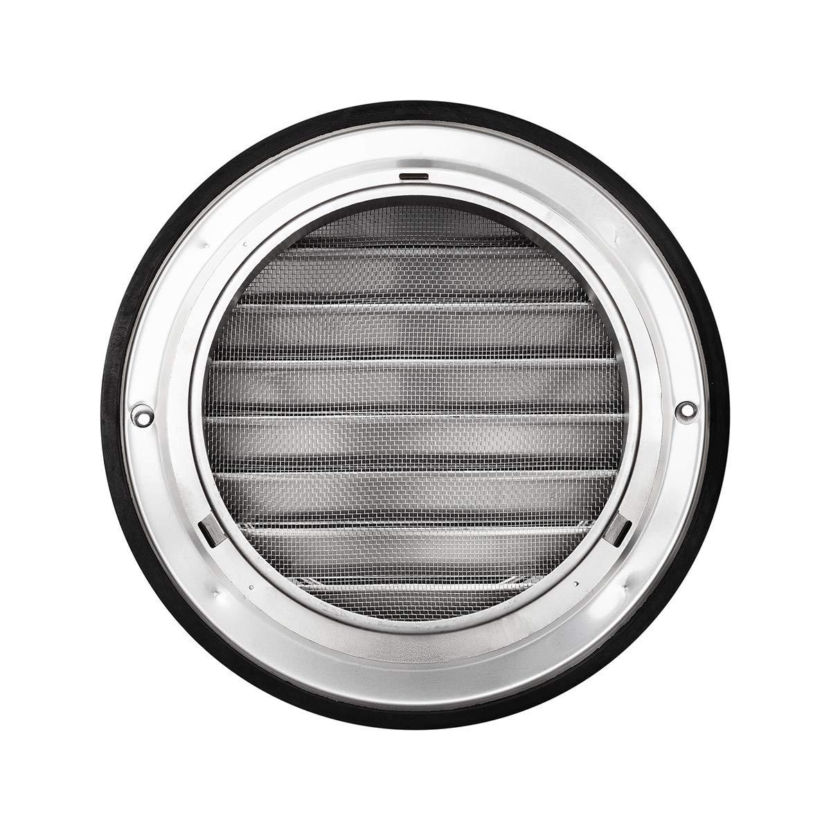 Klimapartner KWG 150 6 Inch Stainless Steel Round Ventilation Outdoor Grill Screen Hood