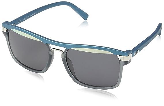 Police SPL232 gafas de sol, Plateado (GRIGIO TRASP.+PETROLIO ...