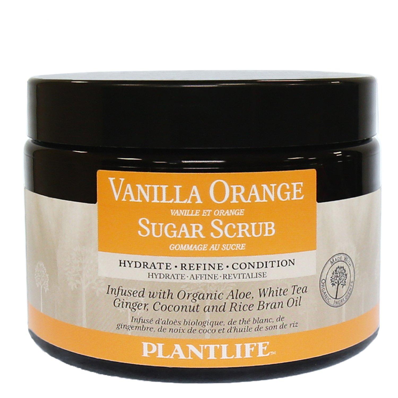Vanilla Orange Face & Body Sugar Scrub - 100% Natural, 14 oz