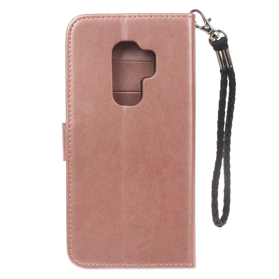 ... Samsung Galaxy S9 Plus Carcasa Piel Flip Case Cartera Funda Carcasa para Samsung S9 Plus Funda Cover imitación búho (Oro Rosa): Amazon.es: Electrónica