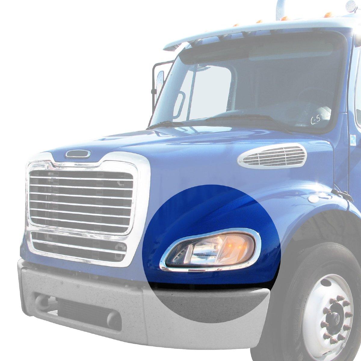 Grand General 89310 Chrome Plastic Driver Side Headlight Bezel for Freightliner Columbia