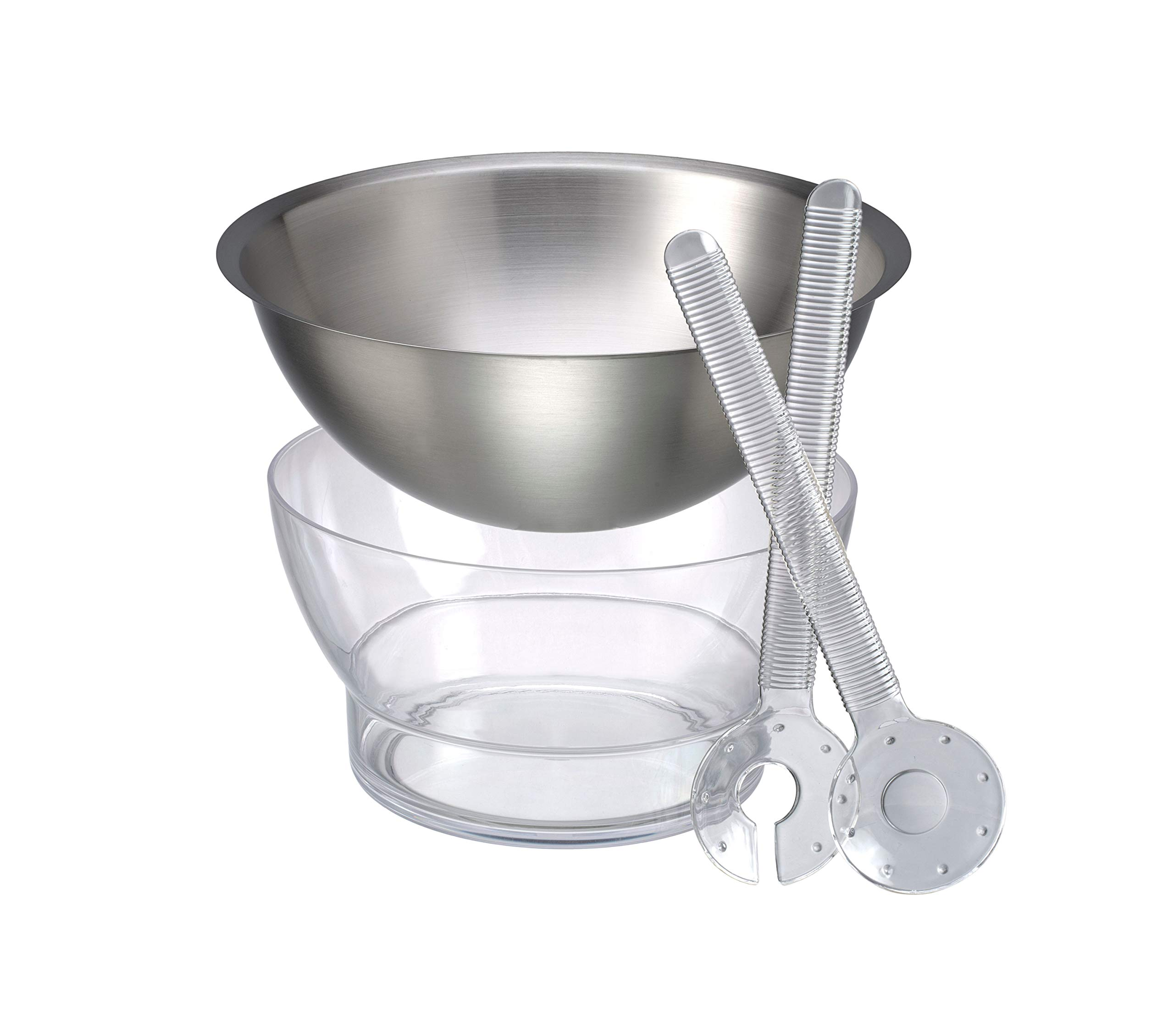 Prodyne CB-2 Ice Spinning Salad Bowl, One Size, Clear by Prodyne