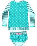 RuffleButts Baby/Toddler Girls Long Sleeve Rash...