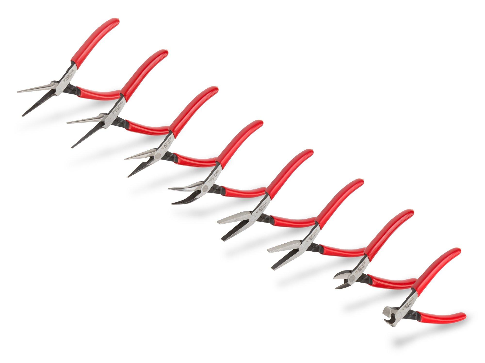 TEKTON Mini Pliers Set, 8-Piece (Needle Nose, Long Nose, Flat Nose, Cutting)   PMN99908