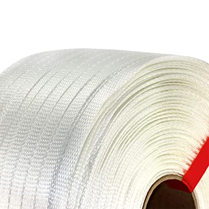 IDL Packaging 3//4 x 2100 Woven Cord Strapping Roll 900 lbs Break Strength White 6 x 3 Core CW34.900 Pack of 1