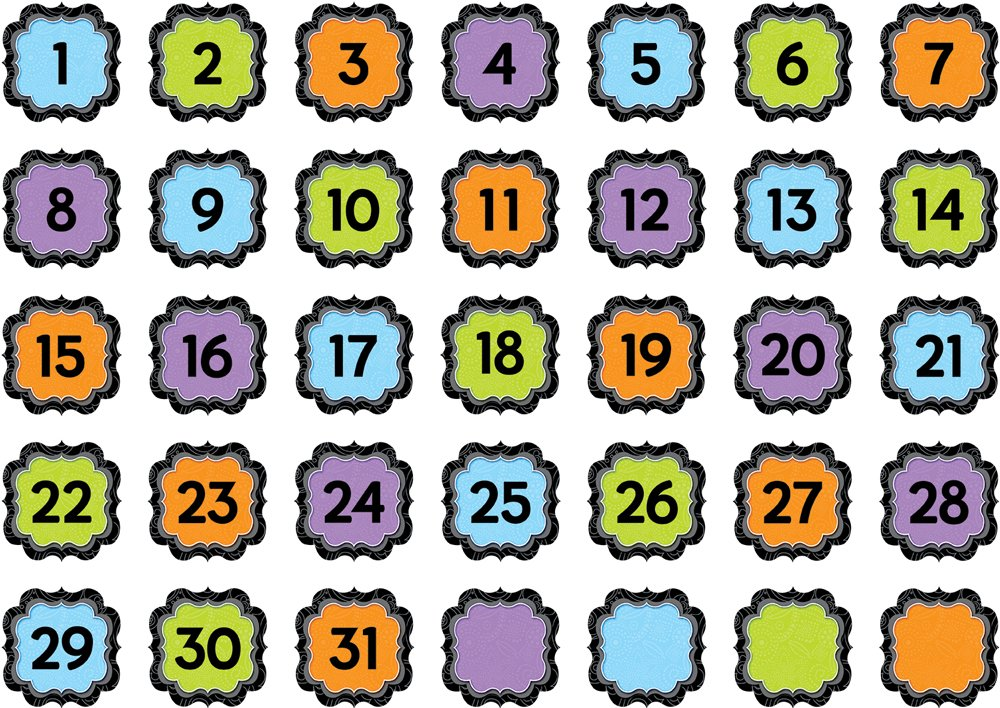 Creative Teaching Press BW Calendar Days (6900)