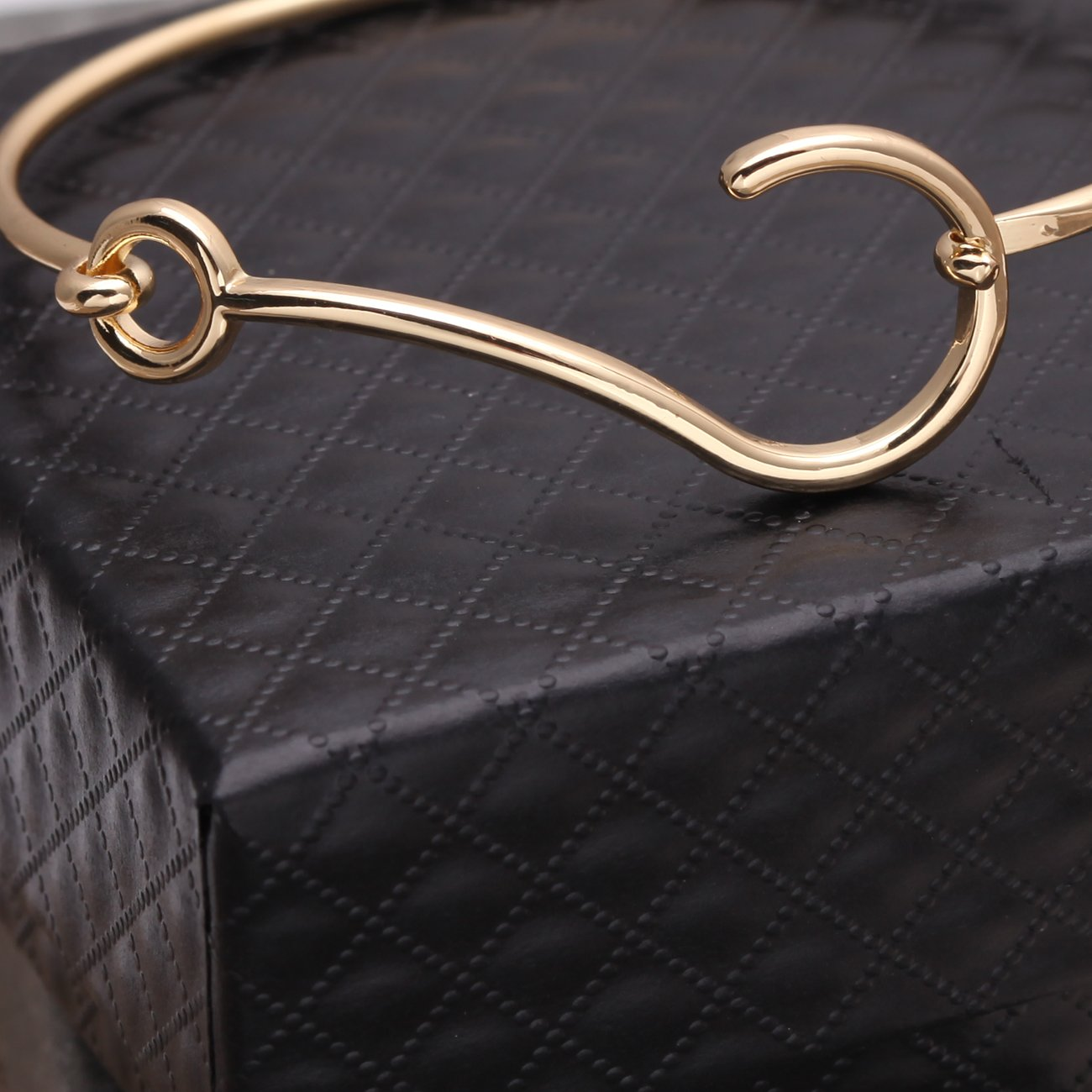 RUXIANG Fish Fishhook Question Mark Bangle Bracelets for Adults