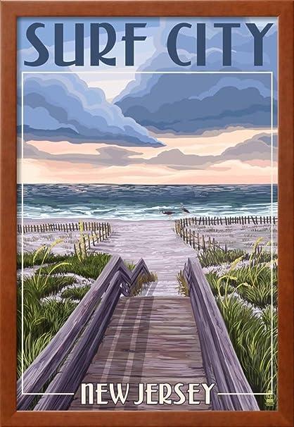 Amazon Okslo Surf City New Jersey Beach Boardwalk Scene
