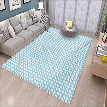 Amazon.com: Baby Girls Bedroom Rug Diagonal Footprint ...