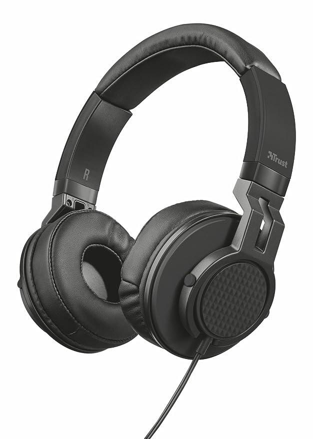 Trust Urban DJ-350 - Juego de Auriculares de DJ para PC y portátil, Color Negro: Amazon.es: Informática