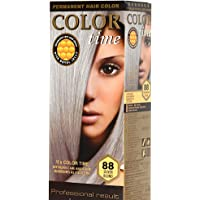 Color time, tinte permanente para el cabello de color rubio plata 88