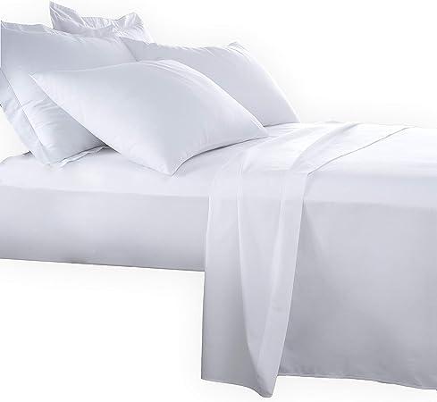 ADP Home - Pack de 6 Und. Sábana Encimera 90 cm, 100% ALGODÓN, Textil para HOSTELERÍA, Medida: 160x290 cm, Blanca: Amazon.es: Hogar