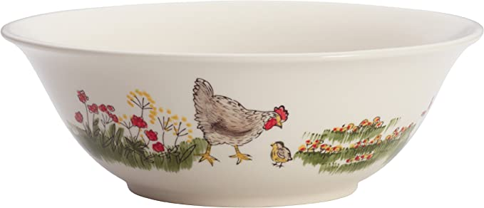 Amazon.com | Paula Deen Dinnerware Southern Rooster 10-Inch Stoneware Serving Bowl, Print: Serving Bowls