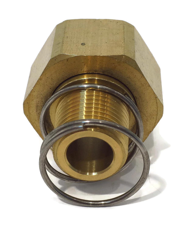 Amazon.com : Brass Pressure Washer Garden Hose Adapter (w/ Spring ...