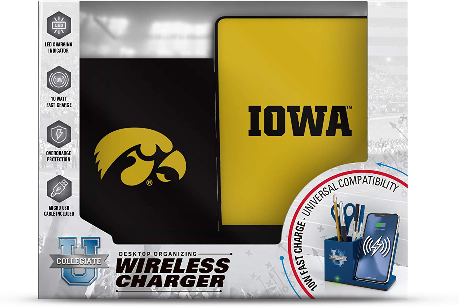 NCAA Prime Brands Group Wireless Charging Desktop Organizer