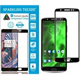 SPARKLING TRENDS 5D Full Glue Edge-To-Edge Tempered Glass Screen Protector for Moto G6 (Black)