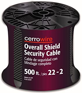 product image for CERRO 225-0022J 500-Feet 22/2 Shielded Security Wire, 22-Gauge, 2 Ground