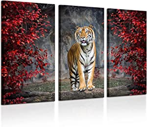 Kreative Arts Large Size 3 Piece Canvas Wall Art Painting Tiger Pictures Prints On Canvas Animal The Picture Artwork for Home Modern Decoration Print Ready to Hang