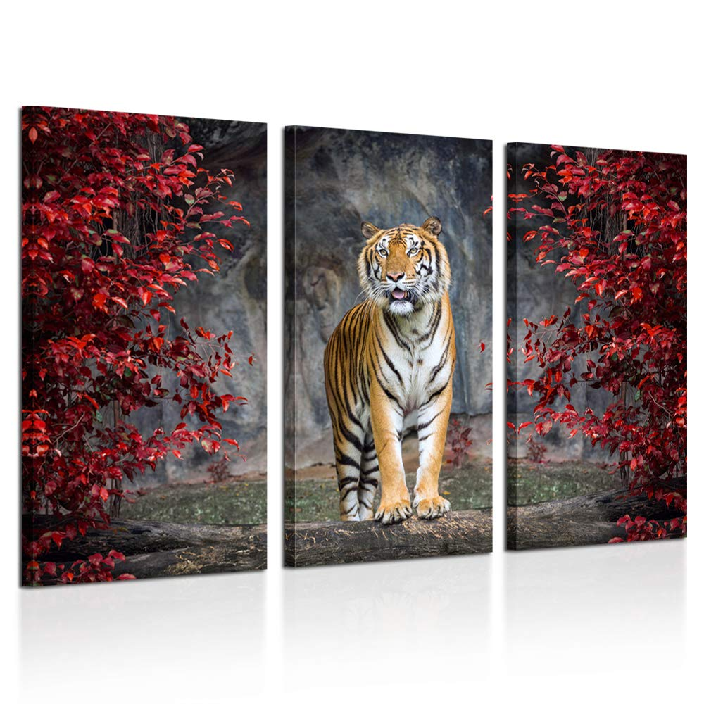 Kreative arts large size 3 piece canvas wall art painting tiger pictures prints on canvas animal the picture artwork for home modern decoration print